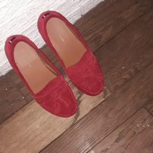 Tommy hilfigure red loafers size 7.5 m